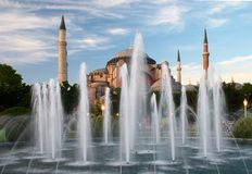 Ayasofya mosque in Istanbul, Turkey Stock Images