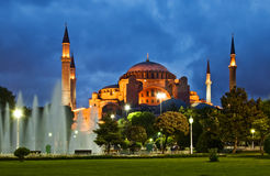 Ayasofya at night Royalty Free Stock Photos
