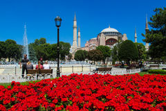 Ayasofya at Sultanahmet square in Istanbul, Turkey Stock Image