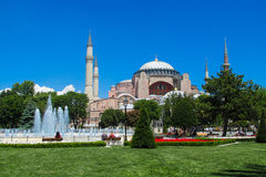 Ayasofya at Sultanahmet square in Istanbul, Turkey royalty free stock photography