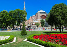 Ayasofya at Sultanahmet square in Istanbul, Turkey Royalty Free Stock Images