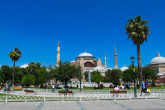 Ayasofya at Sultanahmet square in Istanbul, Turkey Royalty Free Stock Photos