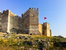 Ayasoluk城堡门在以弗所附近的Selcuk火鸡的 库存照片