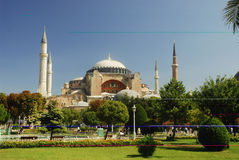 Ayasophia - hagia sophia - Ayasofya. Hagia sophia scene from the park royalty free stock photos