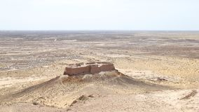 Ayaz-Kala. View of the Ayaz-Kala, one of the ancient fortresses of Kyzylkum desert Royalty Free Stock Image