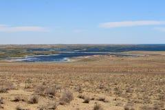 Aydarkul - meer in Oezbekistan royalty-vrije stock foto's