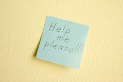 Ayúdeme por favor Fotografía de archivo libre de regalías