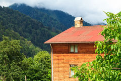 Ayder Plateau. Mountain houses in Ayder Plateau, Rize, Turkey Royalty Free Stock Photos
