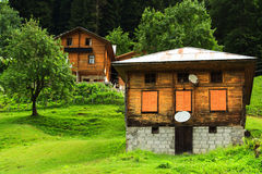 Ayder Plateau. Mountain houses in Ayder Plateau, Rize, Turkey Stock Photos
