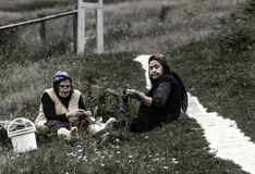 Ayder Plateau,Ayder womans,Camlihemsin,Rize,Turkey stock images
