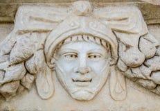 Aydin, Τουρκία - 9 Οκτωβρίου 2015: Λεπτομέρεια γλυπτών πορτρέτου σε μια ελληνική καταστροφή σε Aphrodisias, Τουρκία Στοκ εικόνες με δικαίωμα ελεύθερης χρήσης
