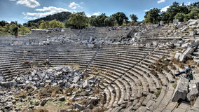 Aydin, Turkey - October 9, 2015: Stadium inside the ancient ruins of Aphrodisias in Geyre, Aydin Stock Image