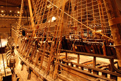 Aye aye captain. Vasa Ship from Vasamuseet Stock Images