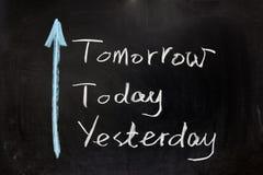 Ayer, hoy y mañana Fotografía de archivo libre de regalías