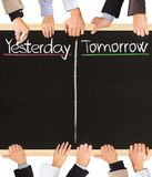 Ayer, mañana Imagenes de archivo