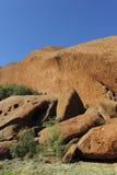 ayers巨型独石岩石 库存图片