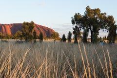 Ayers-Felsen bei Sonnenaufgang Stockbilder