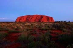 Ayers Felsen - Uluru Stockfotos