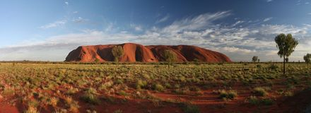 Ayers Rock. Uluru (Ayers Rock) in Australia at the crack of dawn stock photography