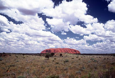 Ayers Rock. Indigenous Name-Uluru, commonly known as Ayers Rock Royalty Free Stock Photos