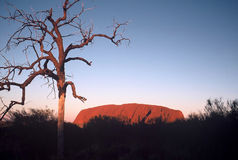 Ayers Rock. Indigenous Name-Uluru, commonly known as Ayers Rock Stock Image