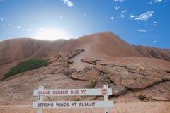 Ayers Rock - Climb closed Royalty Free Stock Image