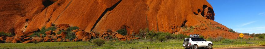 Ayers Rock, Northern Territory, Australia. Panorama of the Ayers Rock, Uluru, Northern Territory, Australia Stock Images