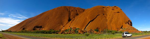 Ayers Rock, Northern Territory, Australia. Panorama of the Ayers Rock, Uluru, Northern Territory, Australia Stock Photography