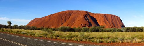 Ayers Rock, Northern Territory, Australia. Panorama of the Ayers Rock, Uluru, Northern Territory, Australia Royalty Free Stock Photos