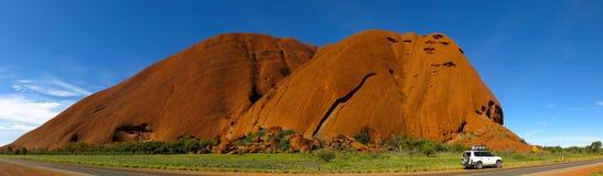 Ayers Rock, Northern Territory, Australia. Panorama of the Ayers Rock, Uluru, Northern Territory, Australia stock photo