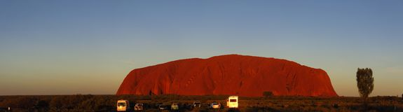 Ayers Rock, Northern Territory, Australia. Panorama of the Ayers Rock, Uluru, Northern Territory, Australia Royalty Free Stock Photo