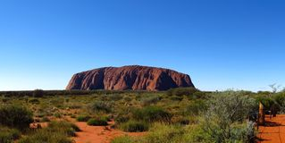 Ayers Rock, Northern Territory, Australia. Panorama of the Ayers Rock, Uluru, Northern Territory, Australia Royalty Free Stock Images