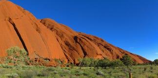 Ayers Rock, Northern Territory, Australia. Panorama of the Ayers Rock, Uluru, Northern Territory, Australia stock photos