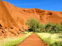 Ayers Rock, Northern Territory, Australia. Panorama of the Ayers Rock, Uluru, Northern Territory, Australia Royalty Free Stock Photography