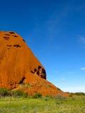 Ayers Rock, Northern Territory, Australia. Panorama of the Ayers Rock, Uluru, Northern Territory, Australia stock image