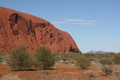 Ayers Rock and Olga mounts. Red center Australia Royalty Free Stock Photos