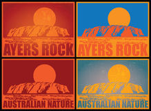 Ayers Rock Posters Royalty Free Stock Photography