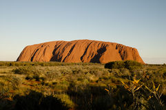 Ayers Rock sunset - Uluru - Australia Royalty Free Stock Images
