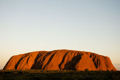 Ayers Rock sunset - Uluru - Australia Stock Photos