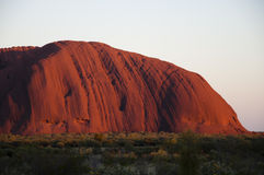 Ayers Rock at sunset - Uluru - Australia Stock Image