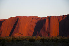 Ayers Rock at sunset - Uluru - Australia Royalty Free Stock Photo