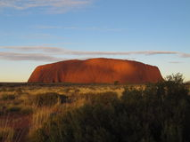 Ayers Rock - Uluru. In Australian desert is the symbol of Australia royalty free stock photography