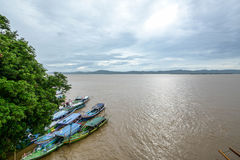 Ayeyarwady River ,view from the Bupaya Pagoda in myanmar Stock Photos