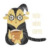 Ayez besoin de plus de découpe de café illustration libre de droits