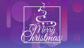 Ayez le Joyeux Noël et la bonne année mêmes que nous te souhaitons le logo de lettrage sur le fond de gradient, calibre de concep illustration stock