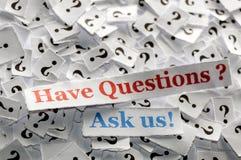Ayez les questions Photos libres de droits