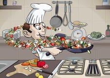 Ayez plaisir la cuisson Photos libres de droits