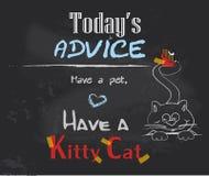 Ayez un animal familier, ayez un chat de minou Photo stock