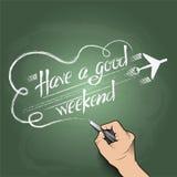 Ayez un bon week-end Photo libre de droits
