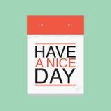 Ayez un calendrier de beau jour Photographie stock libre de droits